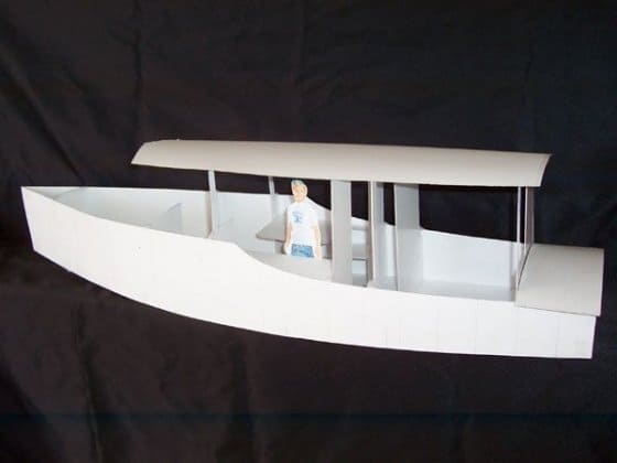 "Model ""Venezia"" - canal boat/river boat for the Venice Lagoon: storerboatplans.com"