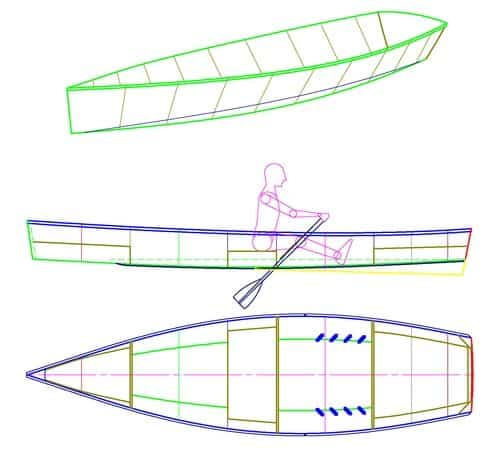Rowboat based on the Goat Island Skiff: storerboatplans.com