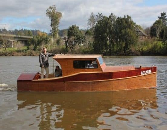 23ft Dayboat Launch on Hawkesbury River; storerboatplans.com