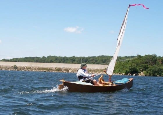 convert a canoe and many kayaks or small dinghies into a sailing boat. Drop in Sailing rig. Quick CAnoe on Mt Storm Reservoir Virginia