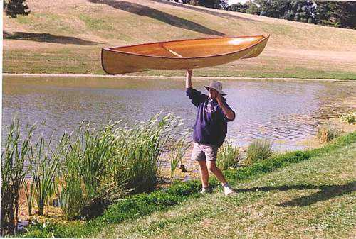 Super light balsa canoe and how to make it: storerboatplans.com