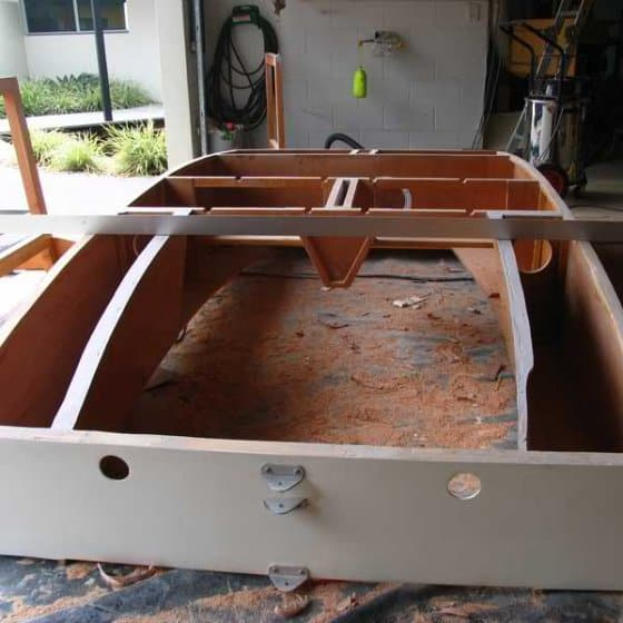 Replace hull panels overnight. Fast boat repairs : Storer boat plans