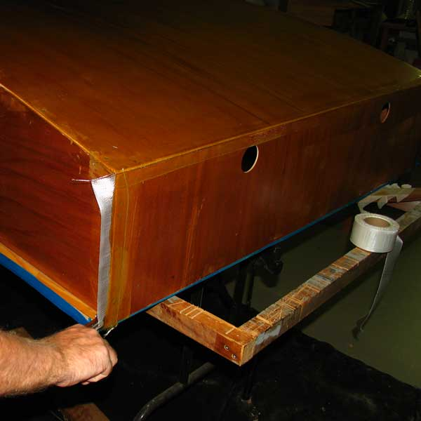 epoxy glass taping boat chine: storerboatplans.com