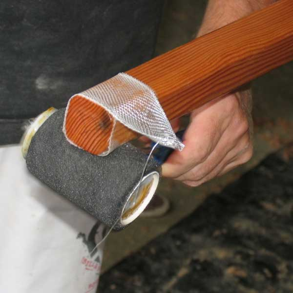 epoxy glass taping spar ends so they don't split: storerboatplans.com