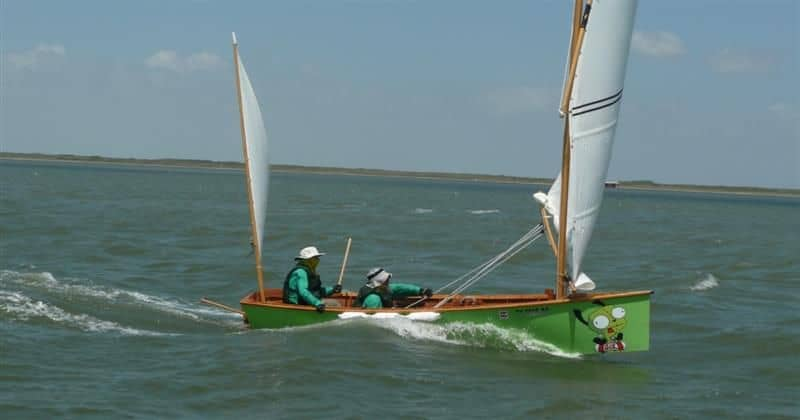 Epic Goat Island Skiff sailing in Texas 200 mile event with John Goodman