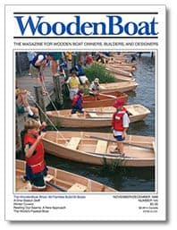 Woodenboat family boatbuilding - Storer Electric canoe
