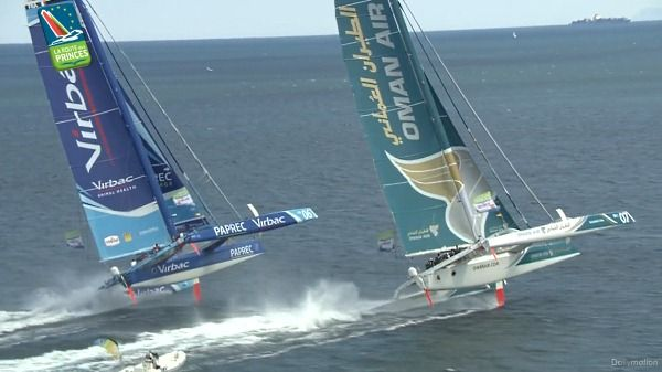 Big trimarans show that canting keelers are slow rich men's toys