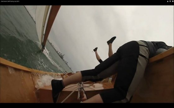 George does a dive off the Goat Island Skiff - Man overboard