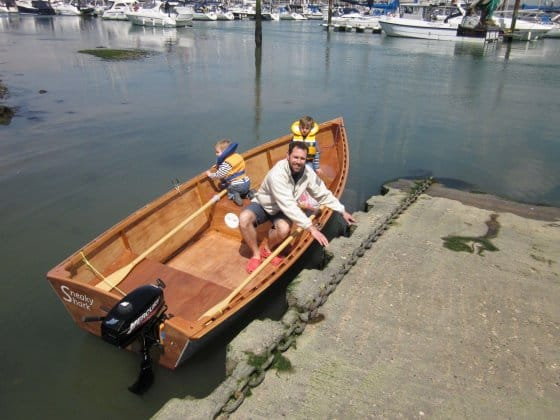 Goat Island Skiff Info - Simple Sailing dinghy Plan, Excellent performance, Lightweight - Storer ...