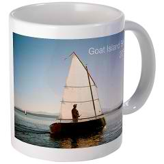 Goat island skiff sailing boat mug with calendar photo 2013
