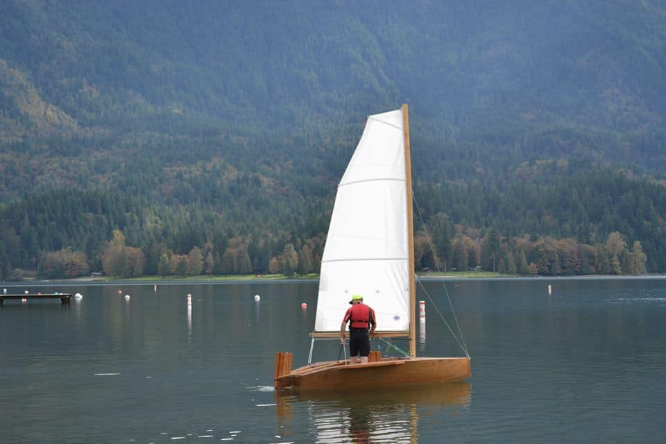 s-12 home built sailing boat - light and simple with good performance