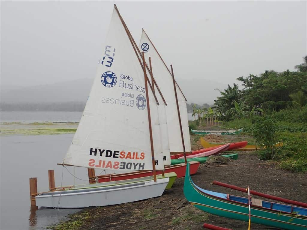 Learn to sail - Manila Phlippines Batangas Lake Taal - saling lessons Pusod Taal Lake Conservation Centre