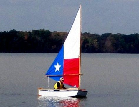 Texas Duck small sailboat kit - J O Woodworks and storerboatplans.com