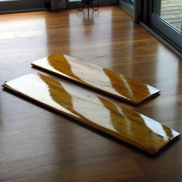 Glassing centreboards and rudders for homemade sailing boats