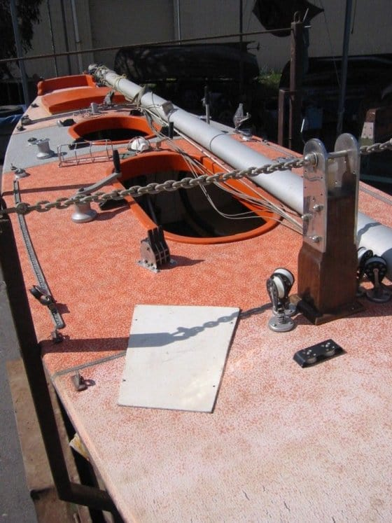 "The ""orange boat"" before restorationa and redecking"