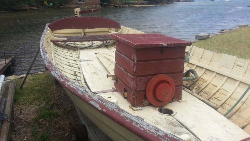 Wooden plywood boat restoration and repair removing soaked in diesel or oil. storerboatplans.com