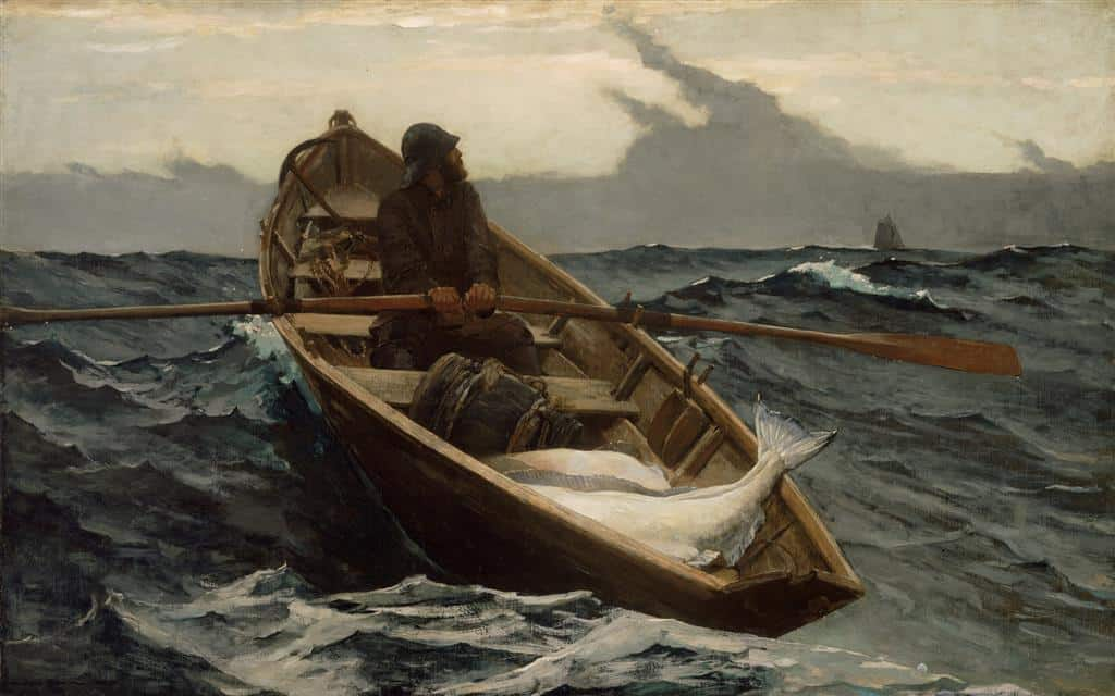 Winslow Homer Dory at sea