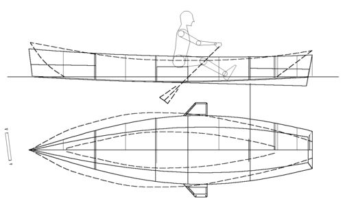 Waterplane of dory vs dinghy Are Dories truly stable boats: storerboatplans.com