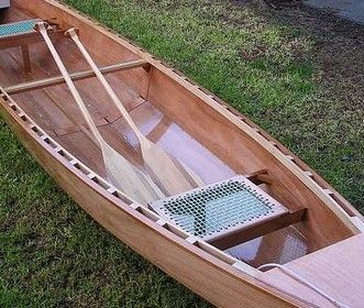 simple woven canoe seat. Eureka lightweight easy to build plywood canoe: storerboatplans.com