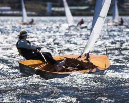Sabre plywood dinghy. Make one yourself. storerboatplans.com
