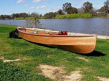 Eureka lightweight easy to build plywood canoe: storerboatplans.com