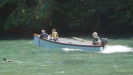 Motoring. Goat Island Skiff is easy to build sails with one to four adults and is quick and beautiful: storerboatplans.com
