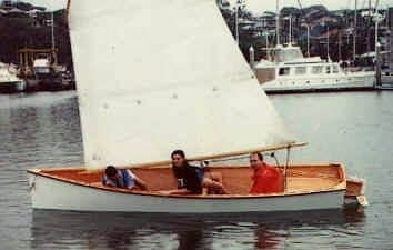 First photo I ever saw. Goat Island Skiff is easy to build sails with one to four adults and is quick and beautiful: storerboatplans.com