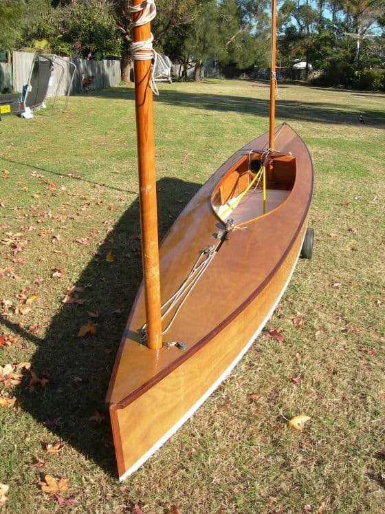 BETH simple to build classic sailing canoe: storerboatplans.com