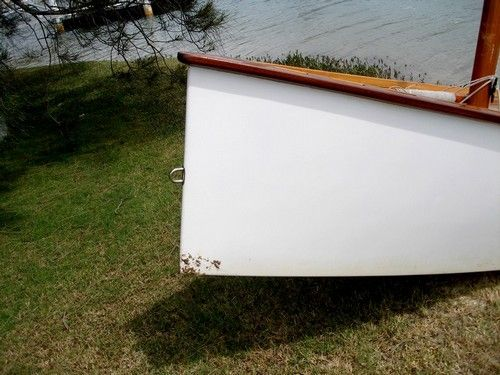 Towing ring for sailing dinghy bow Goat Island Skiff: storerboatplans.com