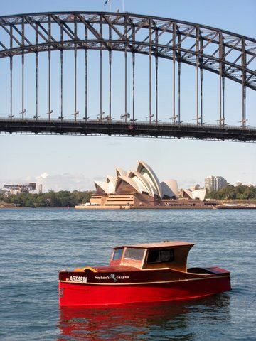 Stephen Foster's wonderful execution on Sydney Harbour. 23ft dayboat/launch; storerboatplans.com
