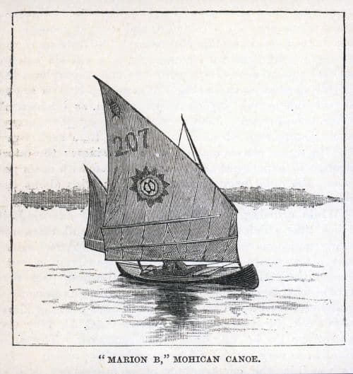 American Sailing Canoe from around the 1870s. BETH sailing canoe plan. Storerboatplans
