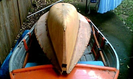 Balsa strip skiff moth a long time after '83/4