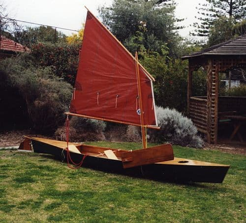 convert canoe or kayak into a sailboat. Drop in sailing rig: storerboatplans.com