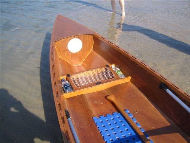 Eureka light ply canoe built by Peter McKenzie: Storerboatplans.com