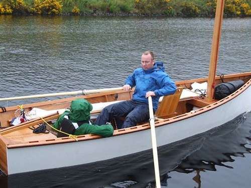 RAID event in fast rowing was third fastest with Goat Island Skiff in Scotland. storerboatplans.com