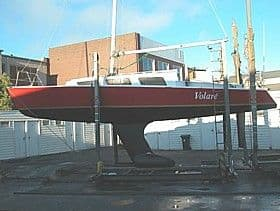 Black Soo has a similar keel to the original on the Stiletto 25. Keel modification for shallow draft. John Spencer Stiletto 25. Keel fell off yacht. storerboatplans.com