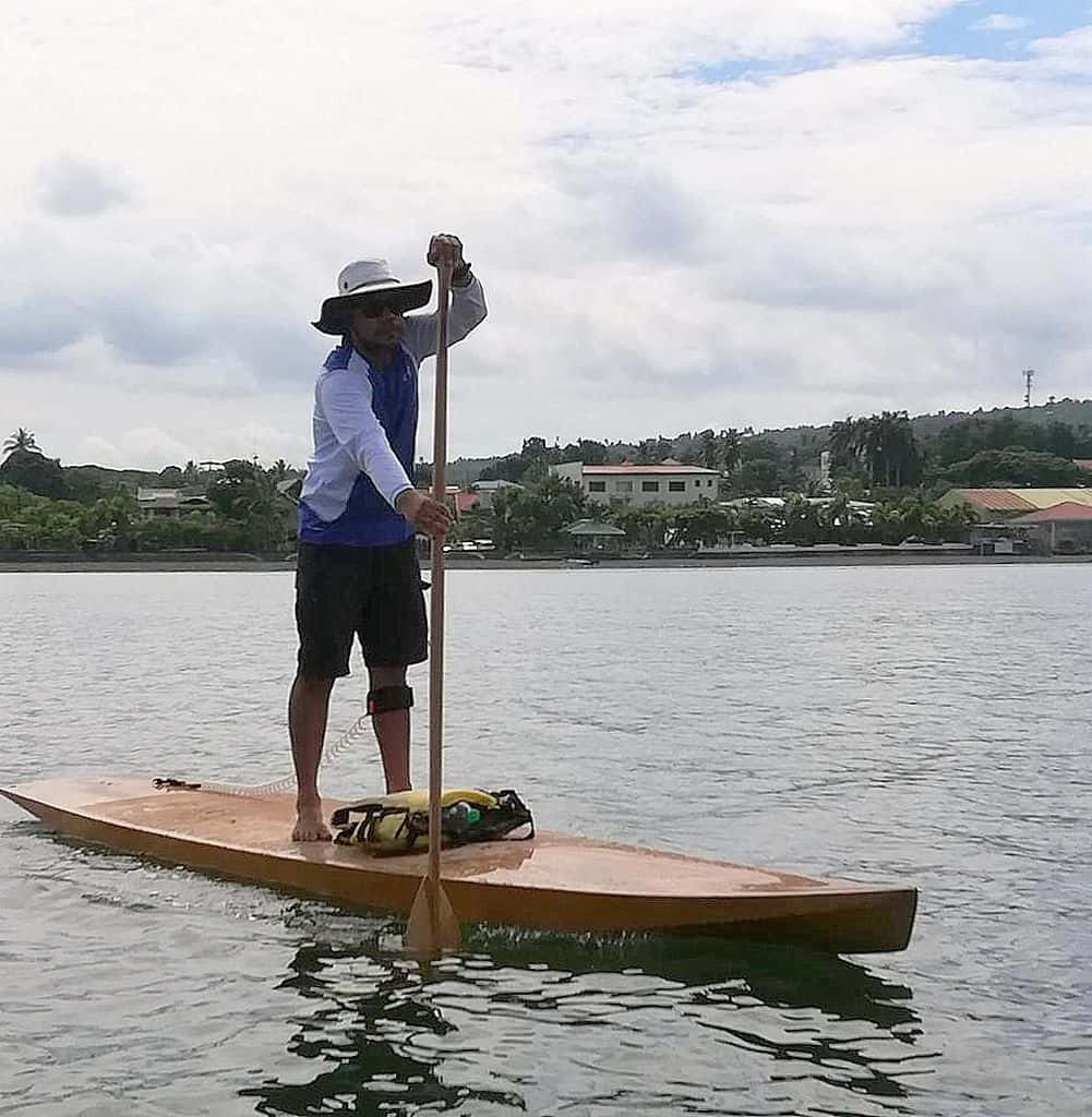 Taal stand up paddleboard. SUP that performs like a good canoe or kayak: storerboatplans.com