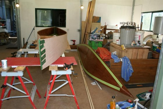 Everything on this quick canoe is precoated before assembly.