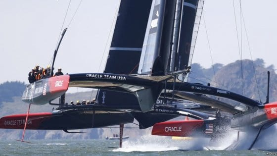 AC72 limited foiling capability.