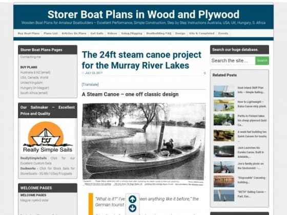 Building a Steam Canoe - Edwardian Thames strip planked canoe. Electric or steam - storerboatplans.com