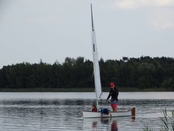 Viola 14 sailing canoe - half the weight of a Laser - storer boat plans