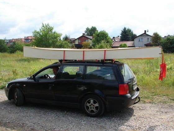 Beth sailing canoe Poland - easy to roof rack