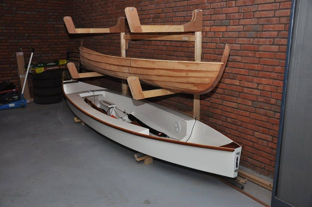 Build a Triple Canoe Storage Boat Rack for Kayaks and SUPs - Storer Boat Plans in Wood and Plywood