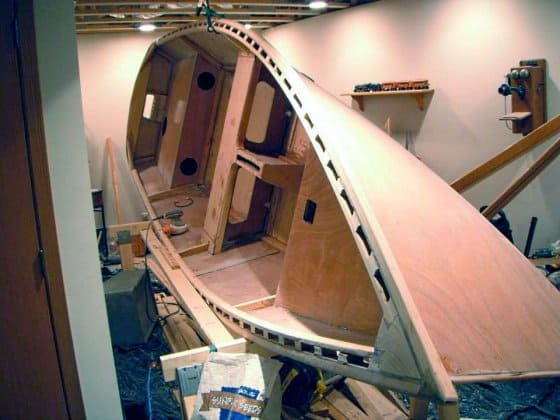 Jerry O'connor makes the wonderful Clint Chase computer cut kits for the Goat Island Skiff in Australia - storer boat plans