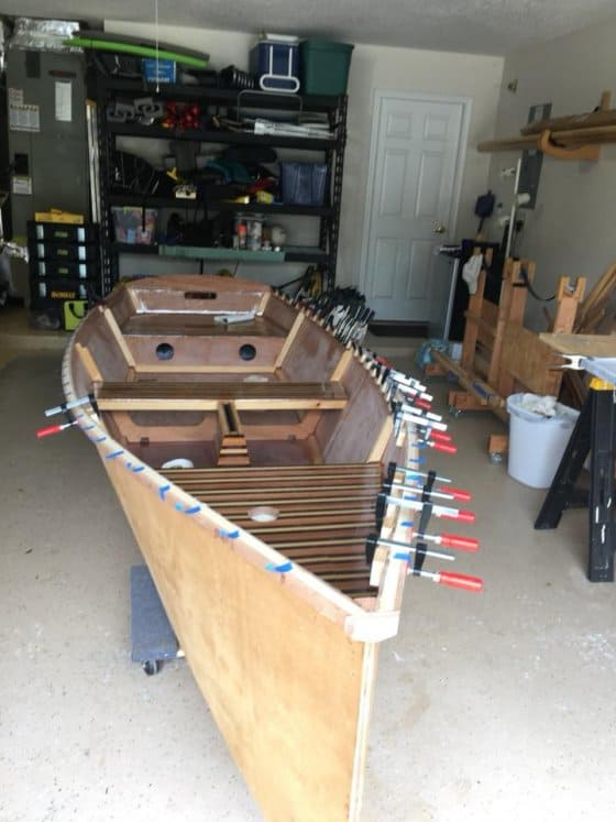 Mark Nye fits the inwale spacers to his GIS and explains how he sets them up. Storer boat plans